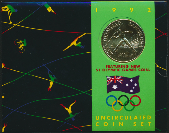 Australia-1992-6-coin-Mint-Set-Olympic-Rare-Cat-80