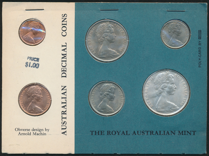 Australia-1966-Mint-Set-incl-Silver-50c-Cat-80