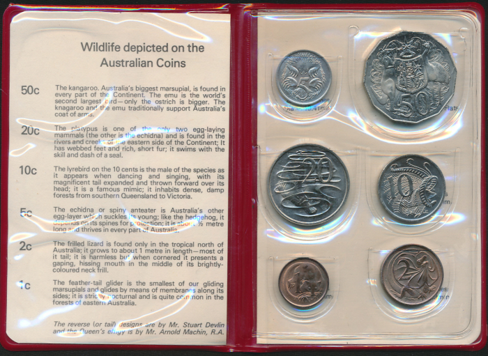 Australia-1975-RAM-6-coin-Mint-Set-Cat-40