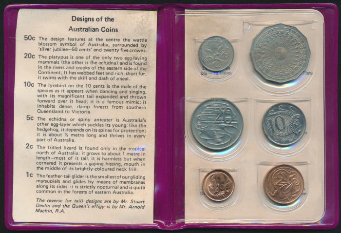Australia-1977-RAM-6-coin-Mint-Set-Silver-Jubilee-Cat-20