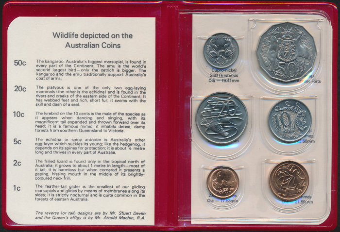 Australia-1978-RAM-6-coin-Mint-Set-Cat-20