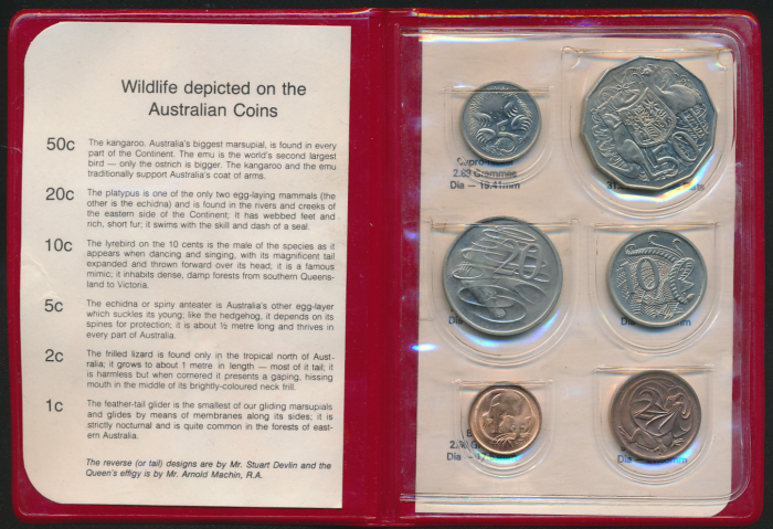 Australia-1980-RAM-6-coin-Mint-Set-Double-Bar-50c-RARE