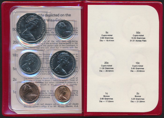 Australia-1981-RAM-6-coin-Mint-Set