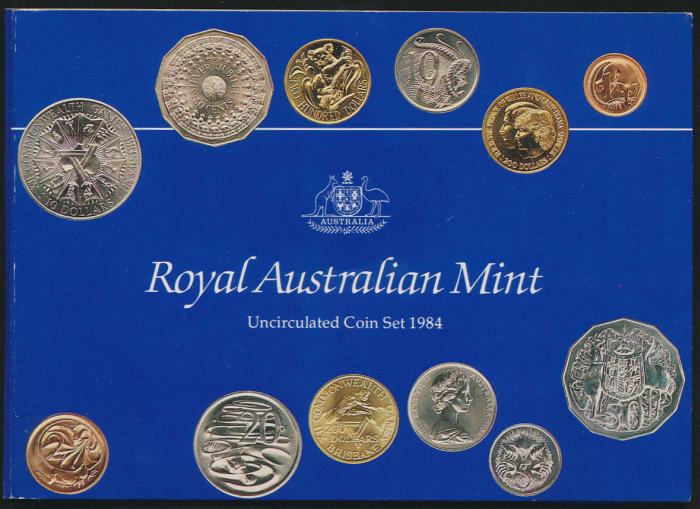 Australia-1984-RAM-6-Coin-Mint-Set-with-Scarce-20c