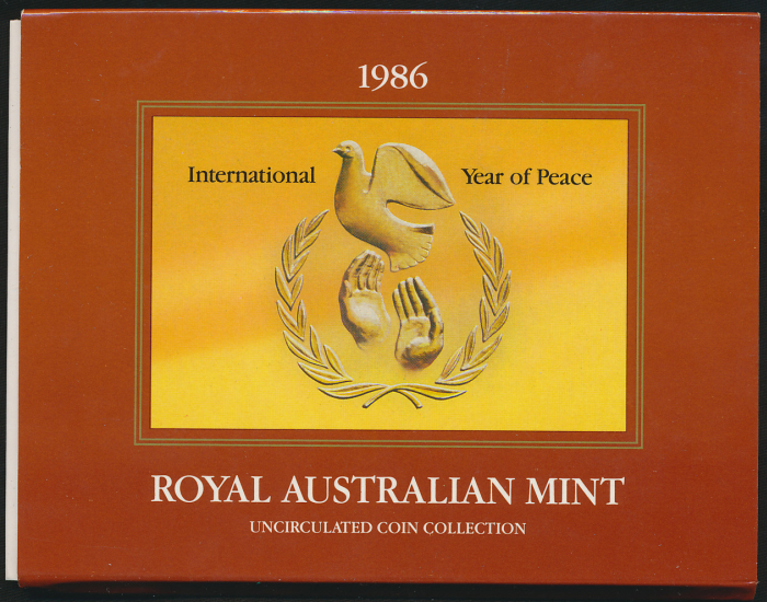 Australia-1986-RAM-Mint-Set-Cat-26-with-International-Year-of-Peace-1