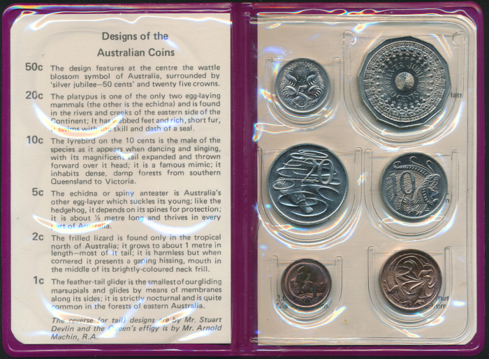 Australia-1977-RAM-6-coin-Mint-Set-Silver-Jubilee-Cat-20
