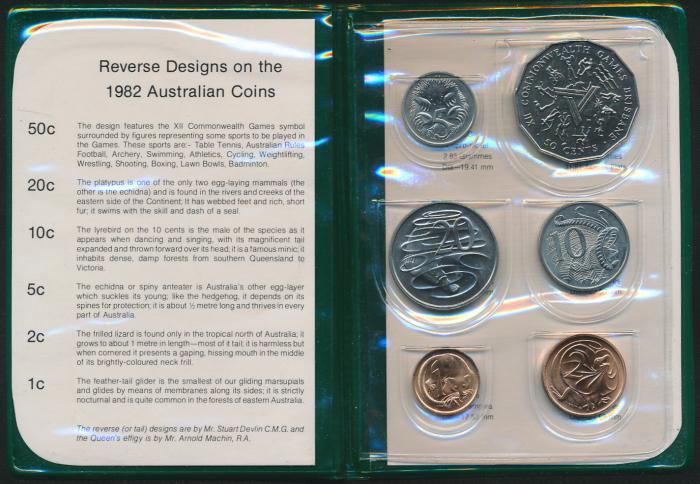Australia-1982-RAM-6-coin-Mint-Set-Commonwealth-Games