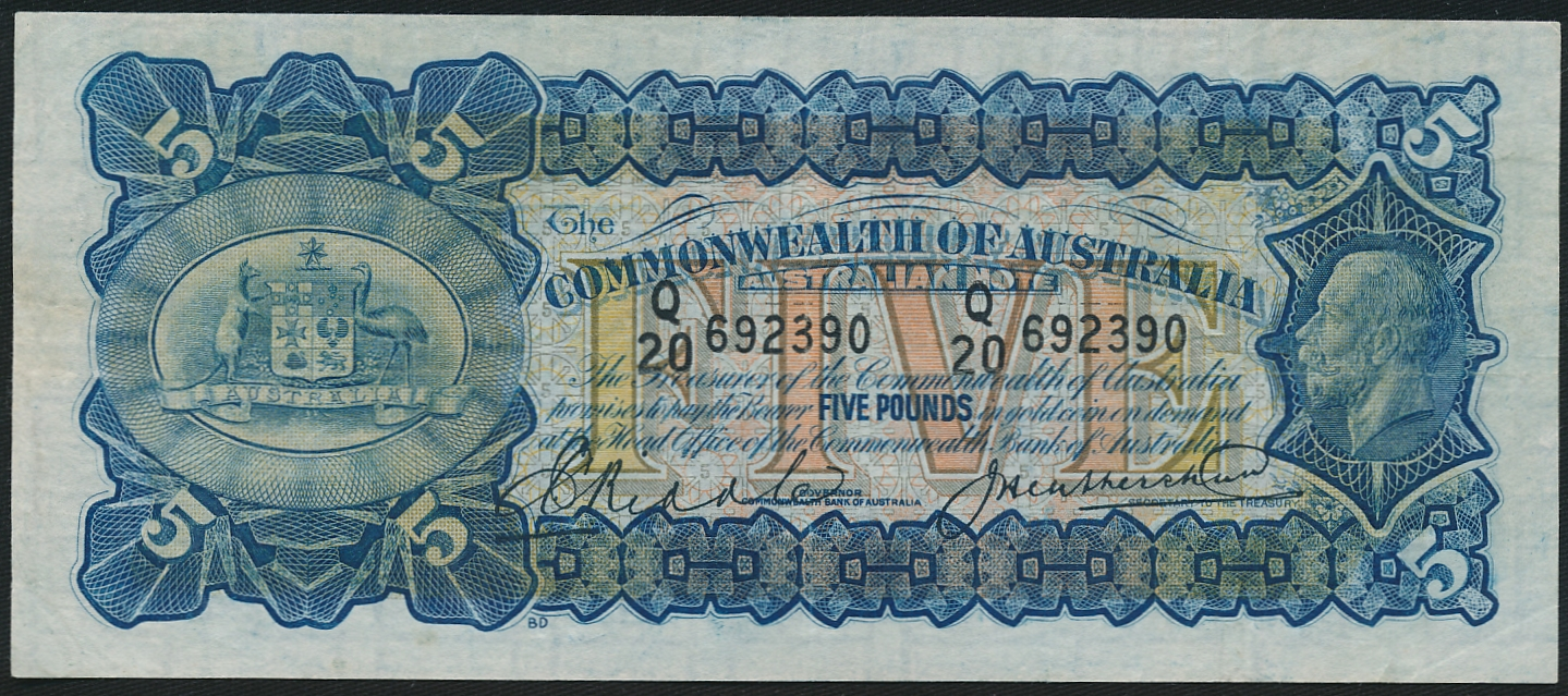 Australia-1927-King-George-V-5-Riddle-Heathershaw-Cat-4-250-VF-R-42-RARE