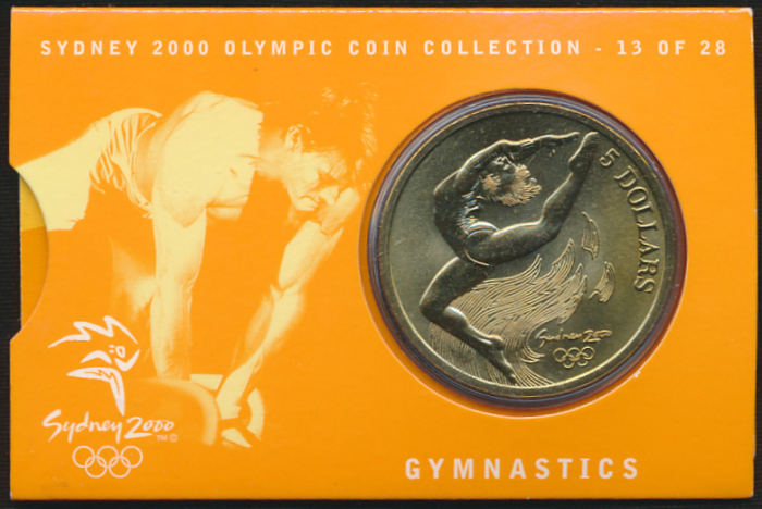 sydney 2000 olympic coin gymnastics games - photo#9