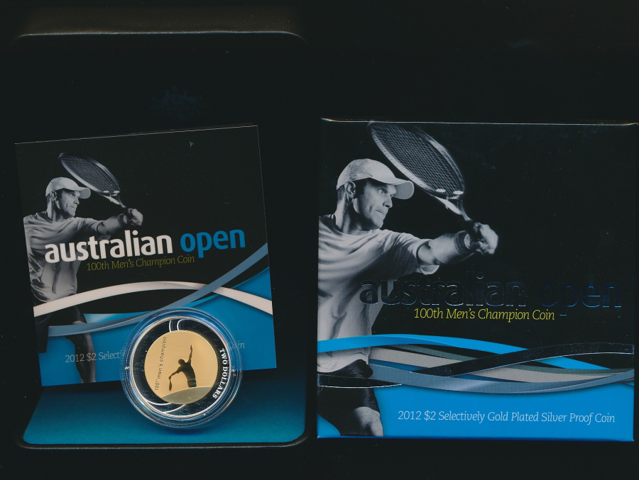 Australia-2012-2-Gold-plated-silver-proof-Australia-Open-Issue-Price-95